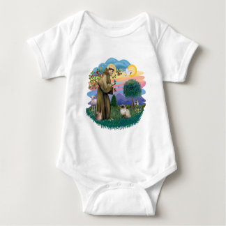 St Francis (ff) - Seal Point Himalayan cat Baby Bodysuit