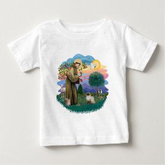 St Francis (ff) - Seal Point Himalayan cat Baby T-Shirt