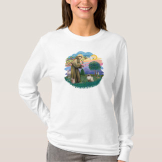 St Francis (ff) - Seal Point Himalayan cat T-Shirt