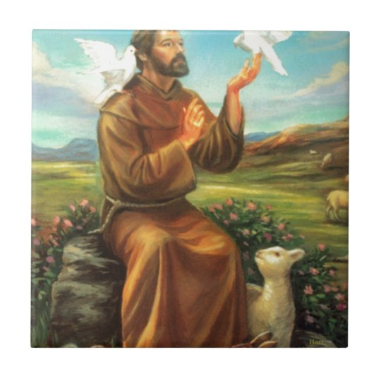 St. Francis Full-color Tee, Tie, Mug, Samsung Case Ceramic Tile