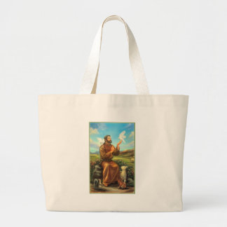 St. Francis Full-color Tee, Tie, Mug, Samsung Case Large Tote Bag