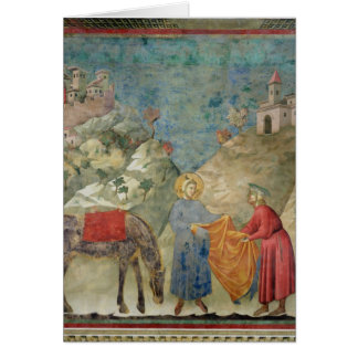 St Francis Gives his Coat to a Stranger Greeting Card