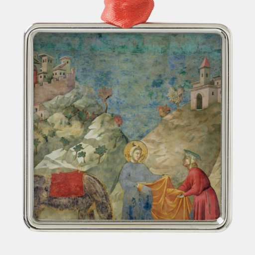 St. Francis Gives his Coat to a Stranger Metal Ornament