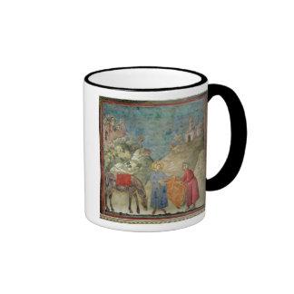 St. Francis Gives his Coat to a Stranger Ringer Coffee Mug