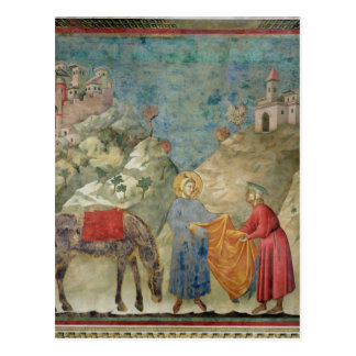 St. Francis Gives his Coat to a Stranger Postcard