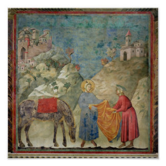 St. Francis Gives his Coat to a Stranger Poster