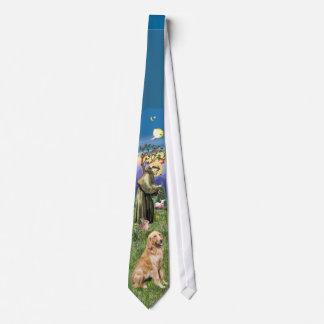 St Francis - Golden Retriever Neck Tie
