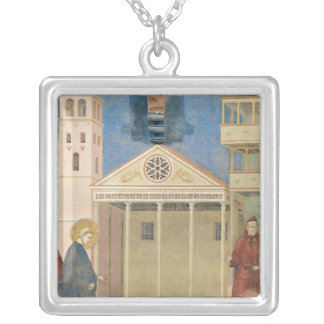 St. Francis Honoured by a Simple Man, 1297-99 Silver Plated Necklace