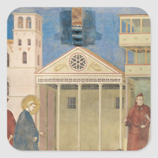 St. Francis Honoured by a Simple Man, 1297-99 Square Sticker