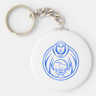 St Francis Hospice for cats blue logo Keychain