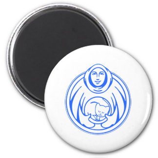 St Francis Hospice for cats blue logo Magnet