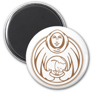 St Francis Hospice for cats brown logo Magnet