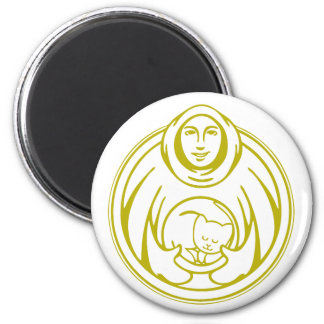 St Francis Hospice for cats gold logo Magnet