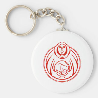 St Francis Hospice for cats red logo Keychain