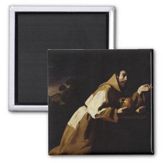 St. Francis in Meditation, 1639 Magnet