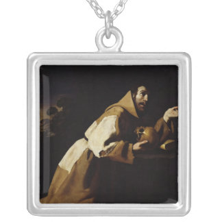 St. Francis in Meditation, 1639 Silver Plated Necklace