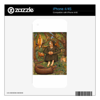 St. Francis in the Forest Gift, Key Chain Mug More Decal For iPhone 4