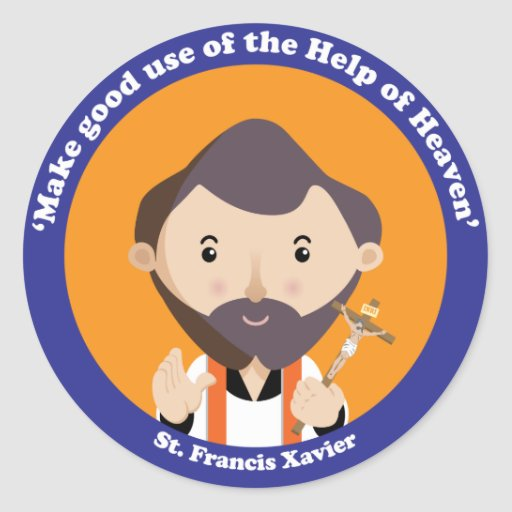 St Francis Javier Pegatina Redonda