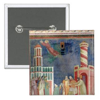 St Francis lanza al hereje, 1297-99 Pin Cuadrado