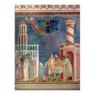 St Francis lanza al hereje, 1297-99 Postales