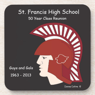 St Francis Logo class reunion Beverage Coaster