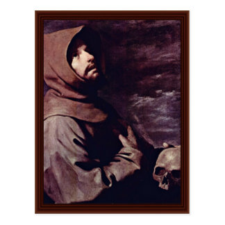St. Francis Meditating With Skull Postcard