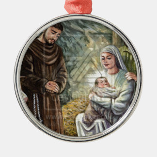 St Francis Nativity Scene, Christmas, Faith, Gift Christmas Tree Ornaments