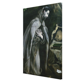 St. Francis of Assisi, 1580-95 Stretched Canvas Prints