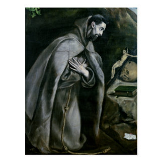 St. Francis of Assisi, 1580-95 Postcard