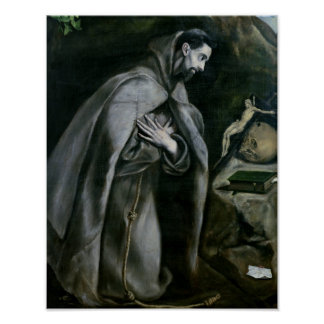 St. Francis of Assisi, 1580-95 Poster