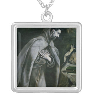 St. Francis of Assisi, 1580-95 Silver Plated Necklace