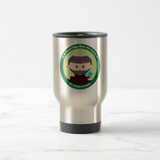 St. Francis of Assisi 15 Oz Stainless Steel Travel Mug