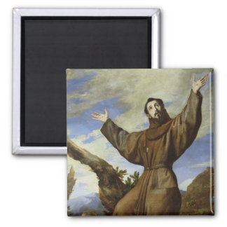 St. Francis of Assisi  1642 2 Inch Square Magnet