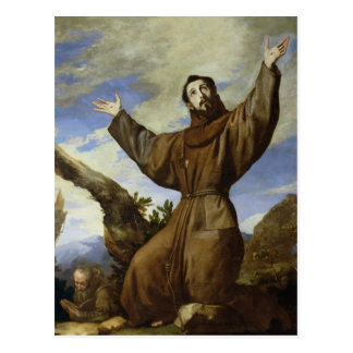 St. Francis of Assisi  1642 Postcard