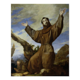 St. Francis of Assisi  1642 Print