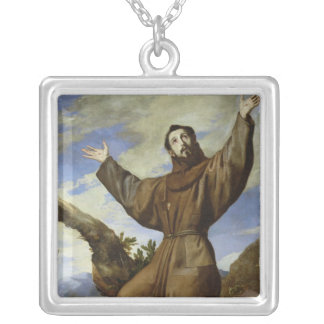 St. Francis of Assisi  1642 Silver Plated Necklace
