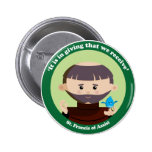 St. Francis of Assisi 2 Inch Round Button