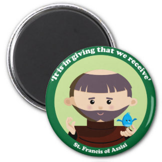 St. Francis of Assisi 2 Inch Round Magnet