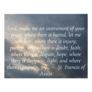 St Francis of Assisi about FAITH Personalized Invites