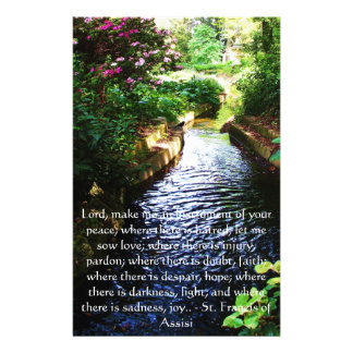 St. Francis of Assisi about FAITH Stationery