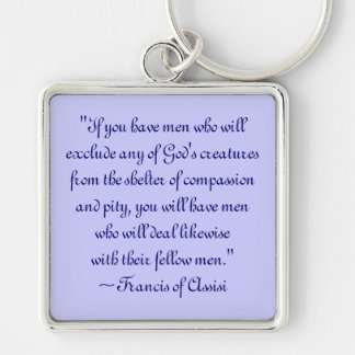 St. Francis of Assisi Animal Compassion Keychain