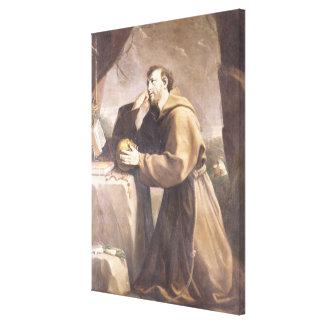 St. Francis of Assisi at Prayer Canvas Prints