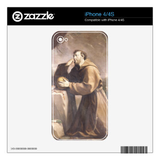 St. Francis of Assisi at Prayer iPhone 4S Skins