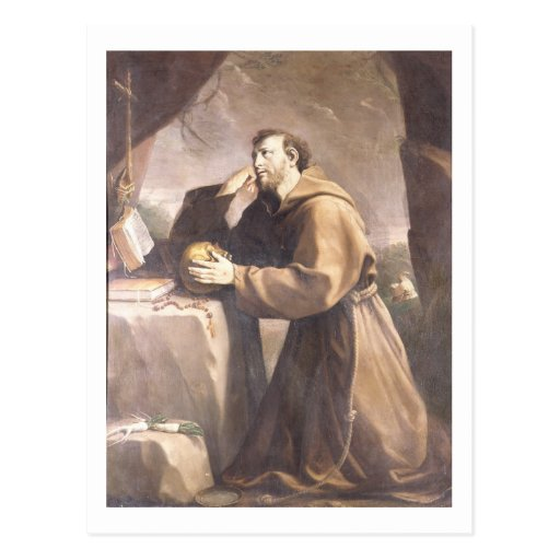 St. Francis of Assisi at Prayer Postcards