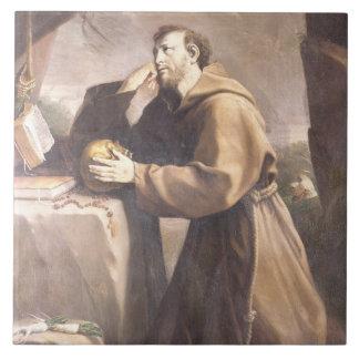 St. Francis of Assisi at Prayer Tiles