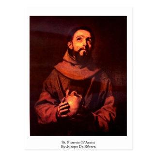 St. Francis Of Assisi By Jusepe De Ribera Postcard