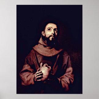 St. Francis of Assisi by Jusepe de Ribera Poster