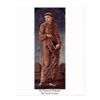 St. Francis Of Assisi By Tura Cosimo Postcards