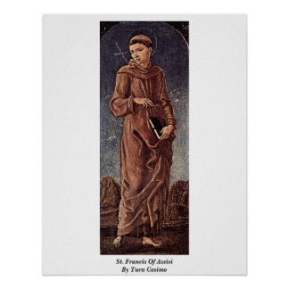 St. Francis Of Assisi By Tura Cosimo Poster