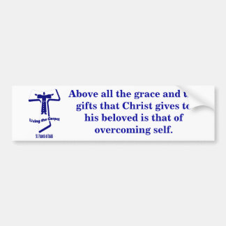 St Francis of Assisi Car Bumper Sticker